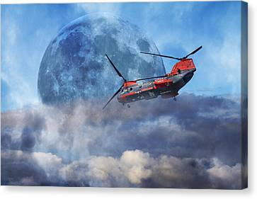 Full Moon Rescue Canvas Print by Betsy Knapp