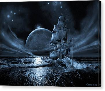 Full Moon Rising Canvas Print by George Grie