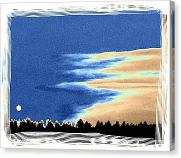 Full Moon Rising Canvas Print by Will Borden