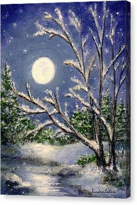 Full Snow Moon Canvas Print