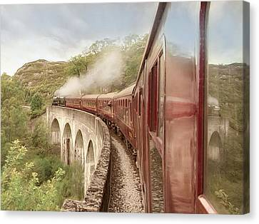 Canvas Print featuring the photograph Full Steam Ahead by Roy  McPeak