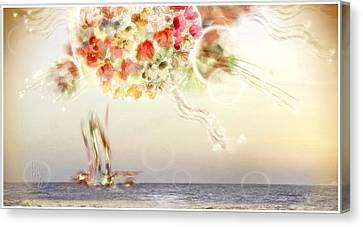 Sun Rays Canvas Print - Morning Glory by Freddy Kirsheh