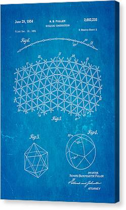 Fuller Geodesic Dome Patent Art 2 1954 Blueprint Canvas Print by Ian Monk