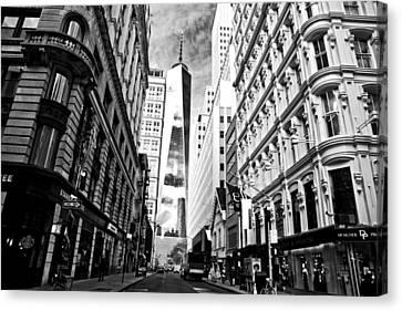 Fulton Street N Y C  Canvas Print