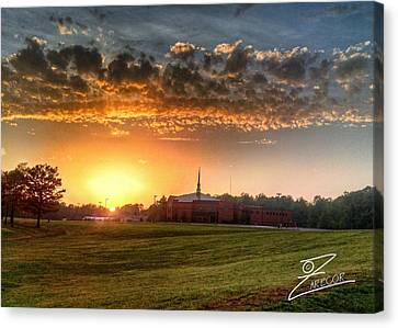 Fumc Sunset Canvas Print