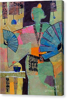 Fumiko's Fan Dance Canvas Print by Melody Cleary
