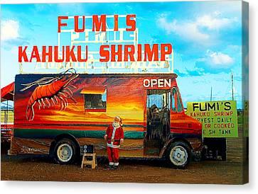 Fumis Kahuku Shrimp Canvas Print by Ron Regalado