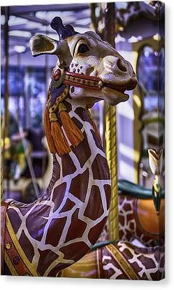Fun Giraffe Carousel Ride Canvas Print by Garry Gay
