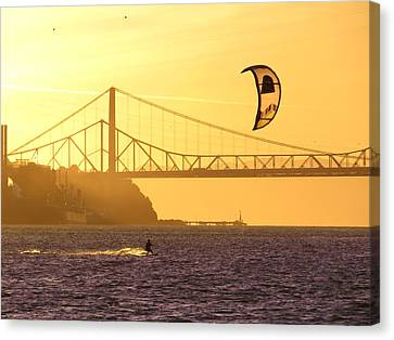 Fun On The Water Canvas Print by Brian Maloney