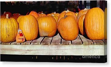 Canvas Print featuring the photograph Fun Pumpkin by Tom Brickhouse