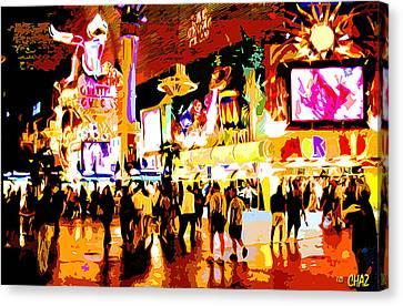 Fun Time In Old Las Vegas Canvas Print
