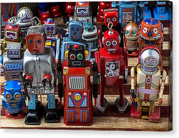 Fun Toy Robots Canvas Print by Garry Gay