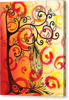 Fun Tree Of Life Impression II Canvas Print by Irina Sztukowski