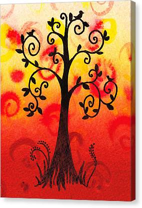 Fun Tree Of Life Impression IIi Canvas Print by Irina Sztukowski