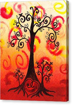 Kids Room Art Canvas Print - Fun Tree Of Life Impression Vi by Irina Sztukowski