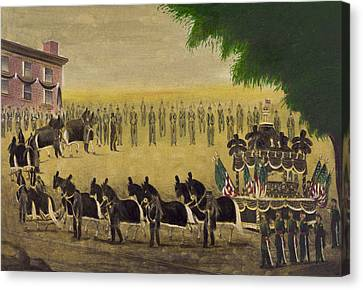 Funeral Car Of President Lincoln Circa 1879 Canvas Print by Aged Pixel