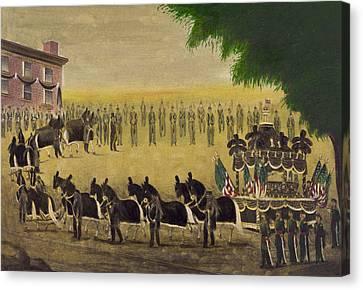 Funeral Car Of President Lincoln Circa 1879 Canvas Print