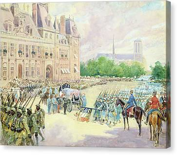 Funeral Of General Joseph Gallieni Canvas Print by Alphonse Lalauze