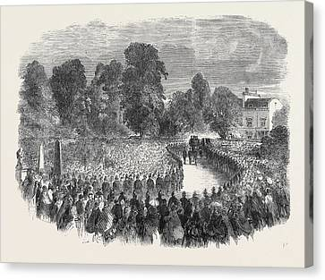 Funeral Of Mr Braidwood The Late Chief Of The London Fire Canvas Print by English School