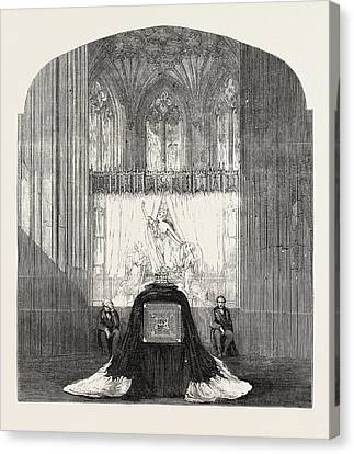 Funeral Of The Late Duchess Of Kent The Ante-chapel St Canvas Print by English School