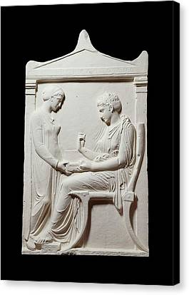 Reliefs Canvas Print - Funerary Stele Of Hegesias by Ashmolean Museum/oxford University Images