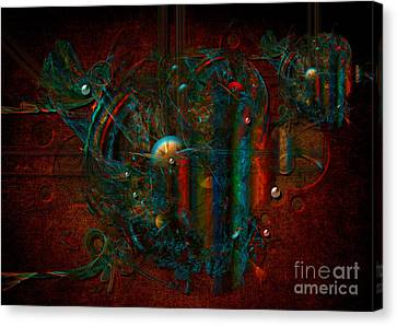 Canvas Print featuring the digital art Funfair by Alexa Szlavics