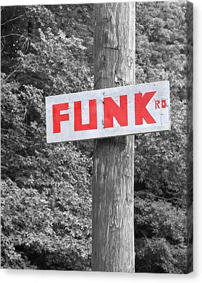 Canvas Print featuring the photograph Funk Road by Brooke T Ryan