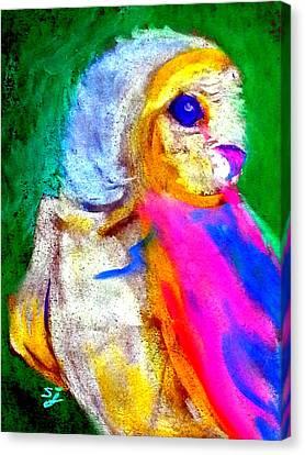Funky Barn Owl Art Print Canvas Print