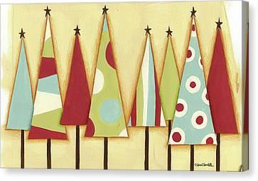 Funky Christmas II Canvas Print by Anne Tavoletti