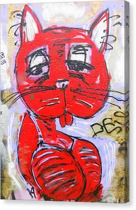 Funky Feline Canvas Print by Ramona Johnston