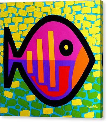 Funky Fish V Canvas Print by John  Nolan