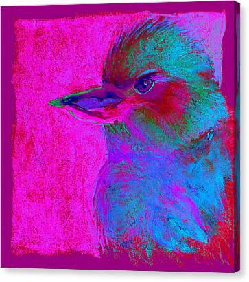 Funky Kookaburra Australian Bird Art Prints Canvas Print