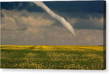 Funnel Clouds Canvas Print by Larry Trupp