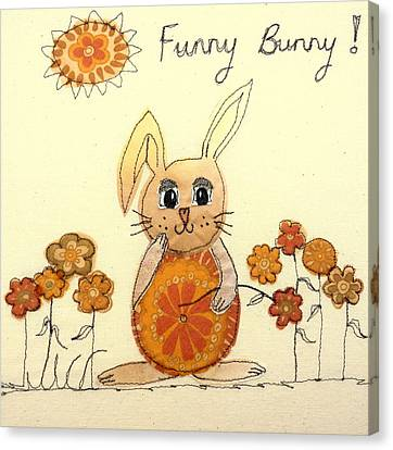 Funny Bunny Canvas Print