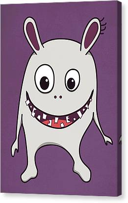 Funny Crazy Happy Monster Canvas Print