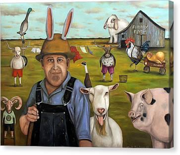 Funny Farm Edit 3 Canvas Print by Leah Saulnier The Painting Maniac