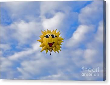 Funny Sunny Balloon Fac Canvas Print