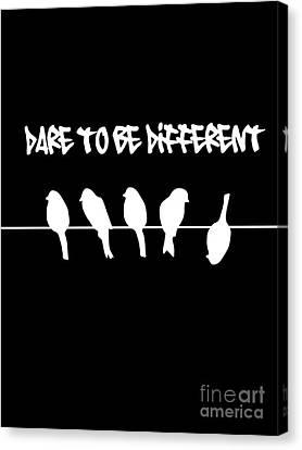 Funny Upside Down Bird Canvas Print by Li Or