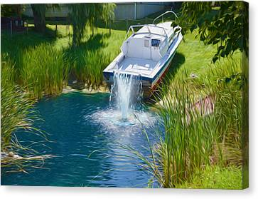 Funplex Funpark Boat 7 Canvas Print by Lanjee Chee