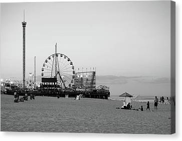 Roller Coaster Canvas Print - Funtown Pier - Jersey Shore by Angie Tirado