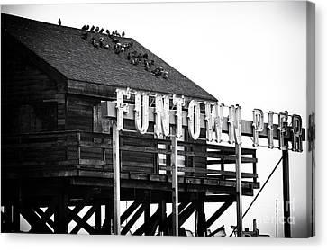 Funtown Pier Canvas Print by John Rizzuto