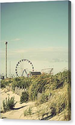 Funtown Pier Seaside Park New Jersey Vintage Canvas Print by Terry DeLuco