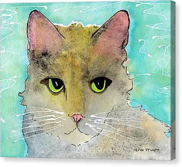 Fur Friends Series - Lir Canvas Print by Moon Stumpp