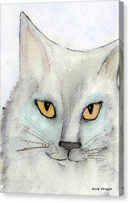 Fur Friends Series - Lizzy Canvas Print by Moon Stumpp