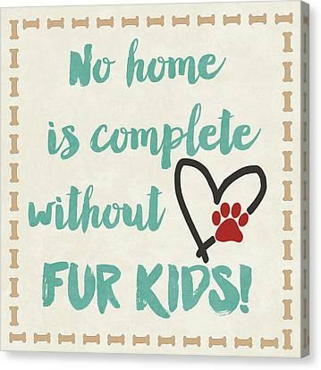 Fur Kids Canvas Print by Jo Moulton