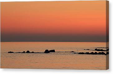 Furbo Beach Sunset Canvas Print by Peter Skelton
