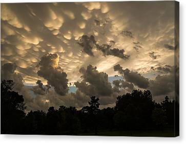 Turbulent Skies Canvas Print - Furious Sky - Mammatus Clouds After A Violent Storm by Georgia Mizuleva