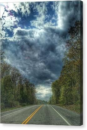 Furnace Branch Road Canvas Print by Toni Martsoukos