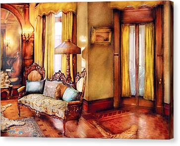 Furniture - Chair - The Queens Parlor Canvas Print by Mike Savad