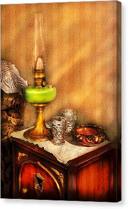 Furniture - Lamp - The Gas Lamp Canvas Print by Mike Savad